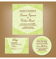 wedding set green vector image vector image