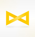 Yellow Infinity Symbol vector image vector image