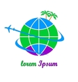 Travel company logo vector image