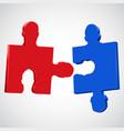 human head colorful puzzle pieces vector image