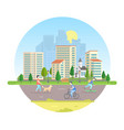 active citizens - modern in a vector image vector image