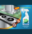 ad kitchen cleaner formula vector image vector image