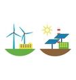 Alternative energy wind station vector image vector image