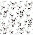 animal cow cartoon cartoon seamless pattern