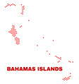 bahamas islands map - mosaic of valentine hearts vector image vector image
