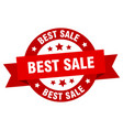 best sale ribbon best sale round red sign best vector image vector image