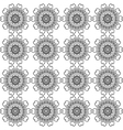 Black and white abstract flowers lace print vector image vector image