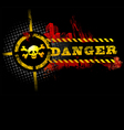 Black urban grunge danger skull detailed vector | Price: 1 Credit (USD $1)