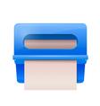 Blue bathroom wall mounted paper dispenser vector image vector image