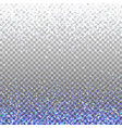 blue glitter background blue sparkles on border vector image vector image