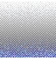 blue glitter background blue sparkles on border vector image
