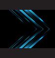 blue metallic arrow direction on black luxury vector image vector image