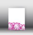 brochure design background flyerfloral poster and vector image vector image