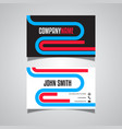 business card with a retro design vector image vector image