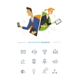 Business male and female user symbol vector image vector image