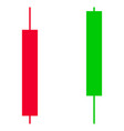 candlesticks flat icon vector image vector image