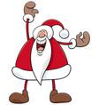 cartoon happy santa claus christmas character vector image vector image