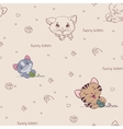 Cartoon seamless pattern with cute cats vector image vector image