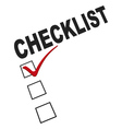 checklist graphic vector image vector image