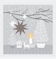 christmas decorating vector image vector image