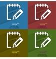 Color set Notepad paper Documents Flat modern web vector image