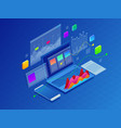 concept business strategy data vector image
