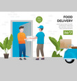 concept food delivery services vector image vector image