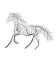 concept horse jumping stylized bush for use on vector image vector image