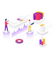 content marketing isometric vector image