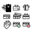 cute credit card icon set vector image