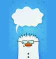 cute snownam with green eyeglasses vector image vector image