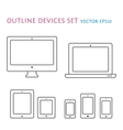 Device icons set vector image vector image