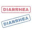 diarrhea textile stamps vector image vector image