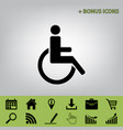 disabled sign black icon at vector image vector image