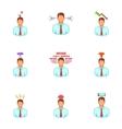 Emotional desperation icons set cartoon style vector image vector image