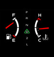 engine parameters its all right vector image