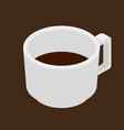 espresso coffee cup isometric icon vector image