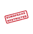 Europeans Restricted Text Rubber Stamp vector image vector image