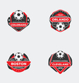 Flat football emblem vector image
