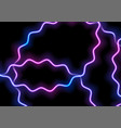 glowing neon blue purple wavy lines background vector image vector image