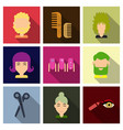 graphic setisolated icons in flat contour thin vector image vector image