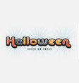 halloween banner letters vector image vector image