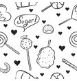 hand draw of sweet candy doodle style vector image vector image