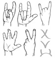 hands victory goat vector image