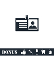Identification card icon flat vector image
