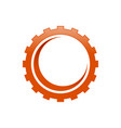 industrial gear cog with crescent shape inside vector image
