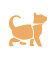 isolated abstract cat vector image vector image