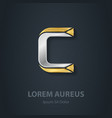 Letter C Template for company logo 3d Design vector image