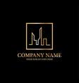 luxury apartment logo idea line art building logo vector image vector image