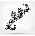 Maori styled tattoo pattern fits for a shoulder or vector image vector image